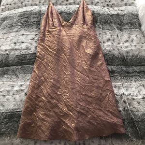 Women's urban outfitters gold/pink dress sz Small